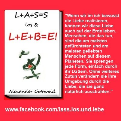 L+A+S=S los & L+E+B=E! Buch Liebe Zitat 1 Alexander Gottwald