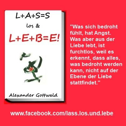 L+A+S=S los & L+E+B=E! Buch Liebe Zitat 3 Alexander Gottwald