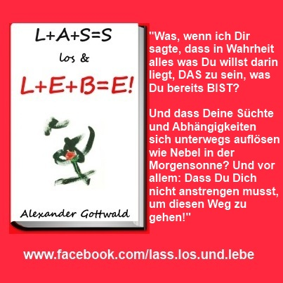 L+A+S=S los & L+E+B=E! Buch Liebe Zitat 4 Alexander Gottwald